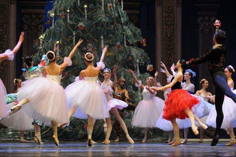 Meespelend gordijnvraag - de Balletnotekraker stock afbeeldingen