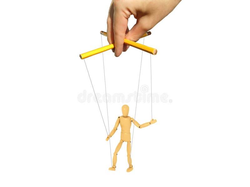 Meester met marionet stock illustratie