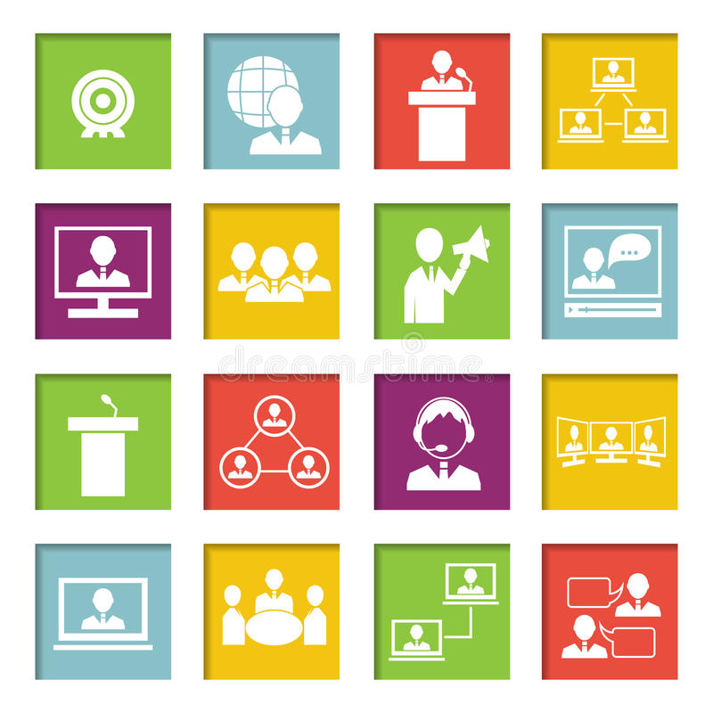 Download Meet People Online Icons Set Stock Vector - Illustration of group, agreement: 39503261