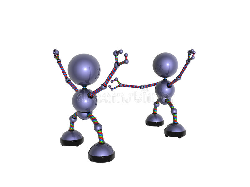 Download Meeting stock illustration. Image of robot, wire, plaything - 12630741