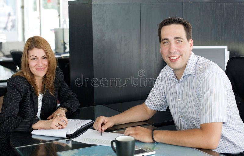 At the meeting stock image