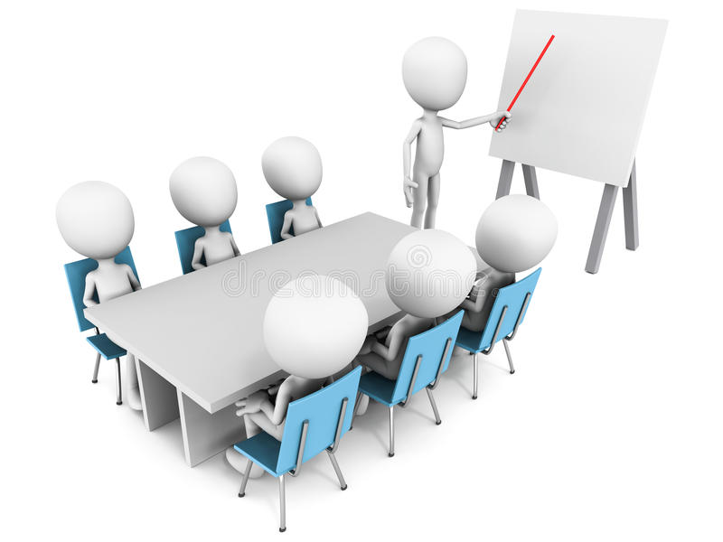 Download Meeting stock illustration. Image of explaining, discuss - 28253729