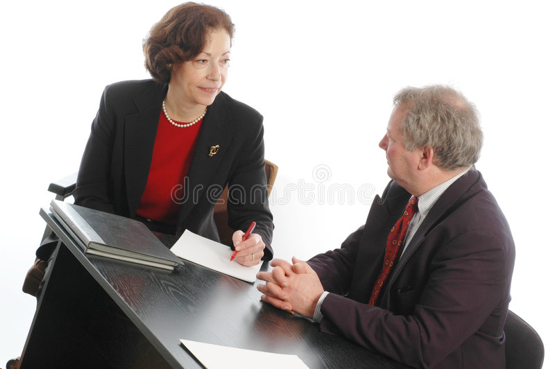 senior male femaile business corporate meeting royalty free stock image