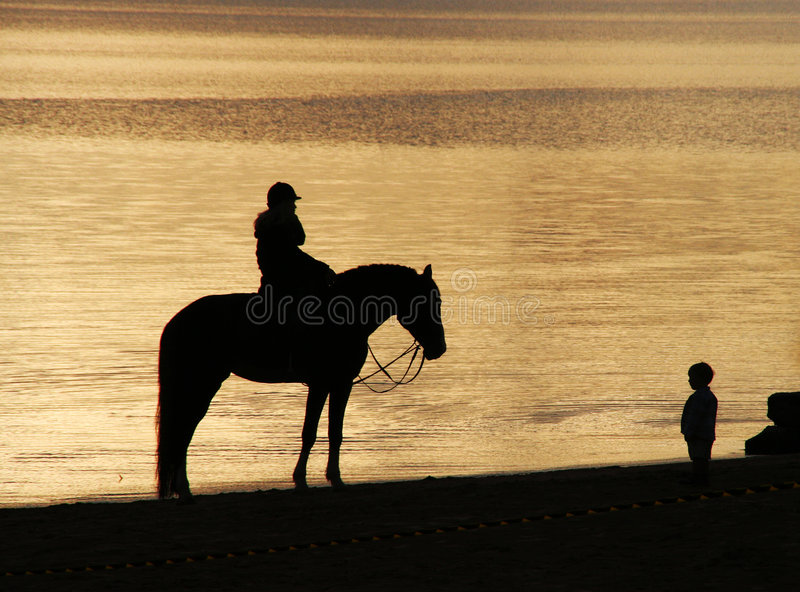 Download A meeting stock photo. Image of riding, rest, coast, beautifully - 5714774