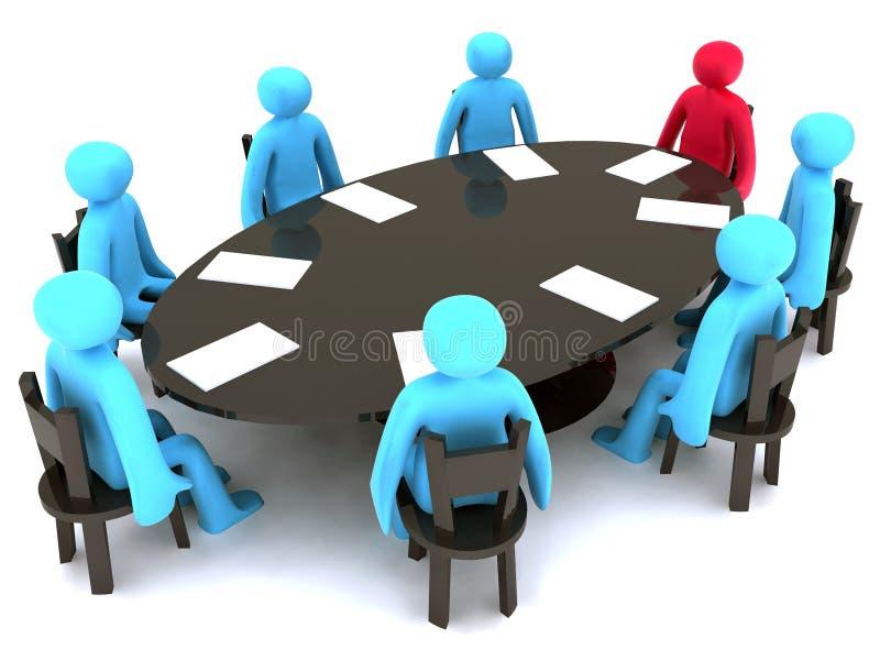 Meeting stock illustration