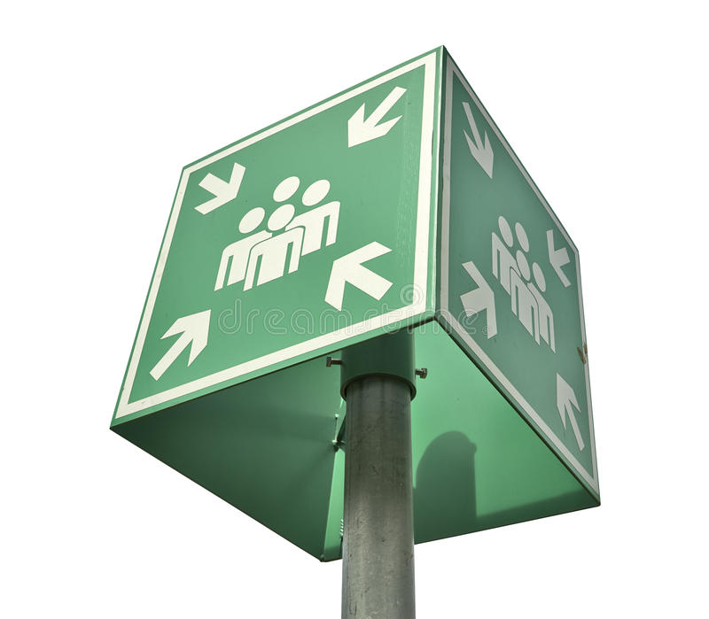 Meeting or assembly point sign - clipping path vector illustration