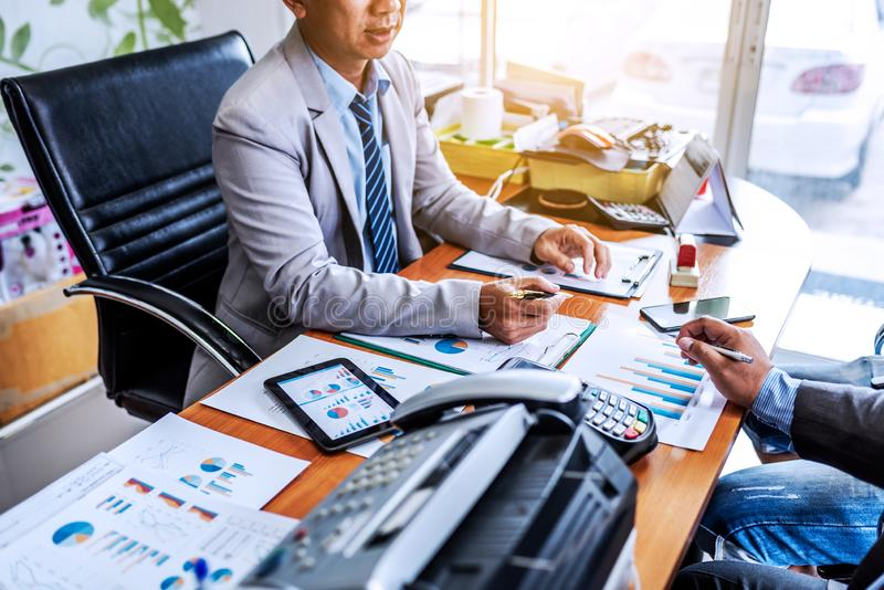 Meeting of business in modern office royalty free stock image