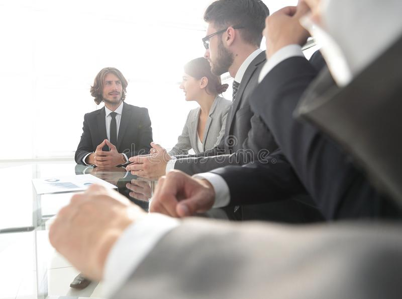 Meeting of business people. To discuss the corporate concept.photo with copy space stock images