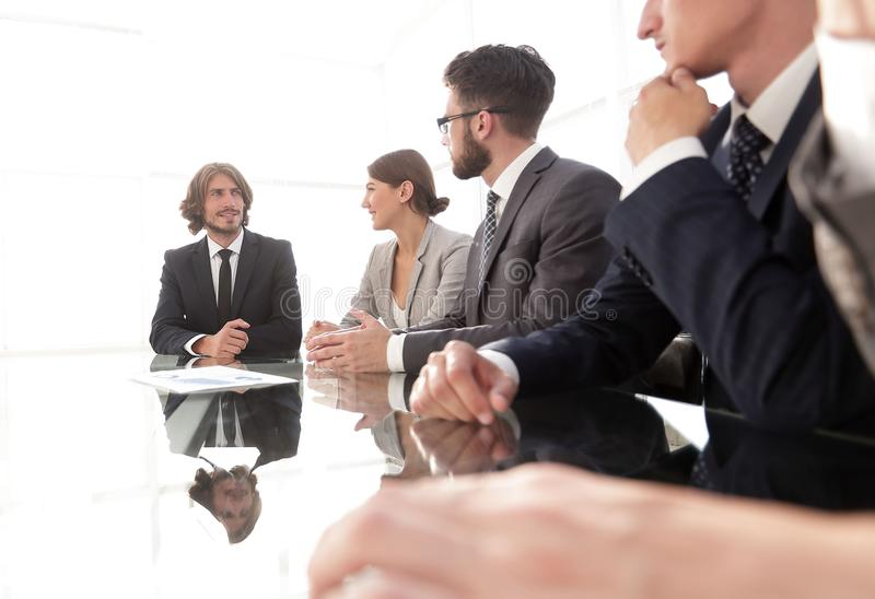 Meeting of business people. To discuss the corporate concept.photo with copy space stock photography