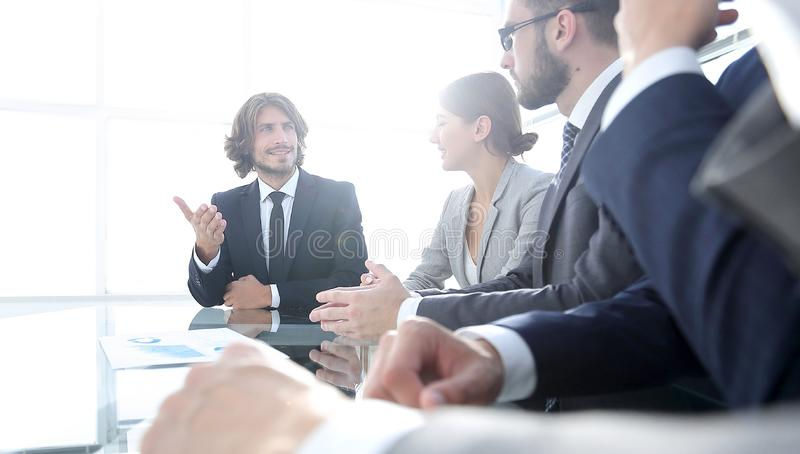 Meeting of business people. To discuss the corporate concept.photo with copy space stock photos