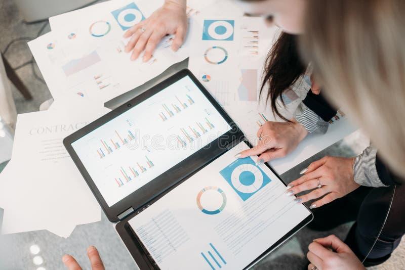 Meeting business team brainstorm document info stock image