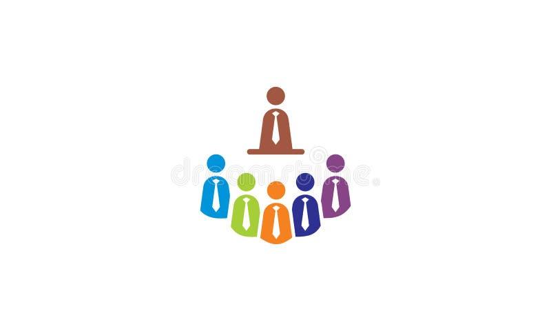 Meeting businessman company logo icon vector stock illustration