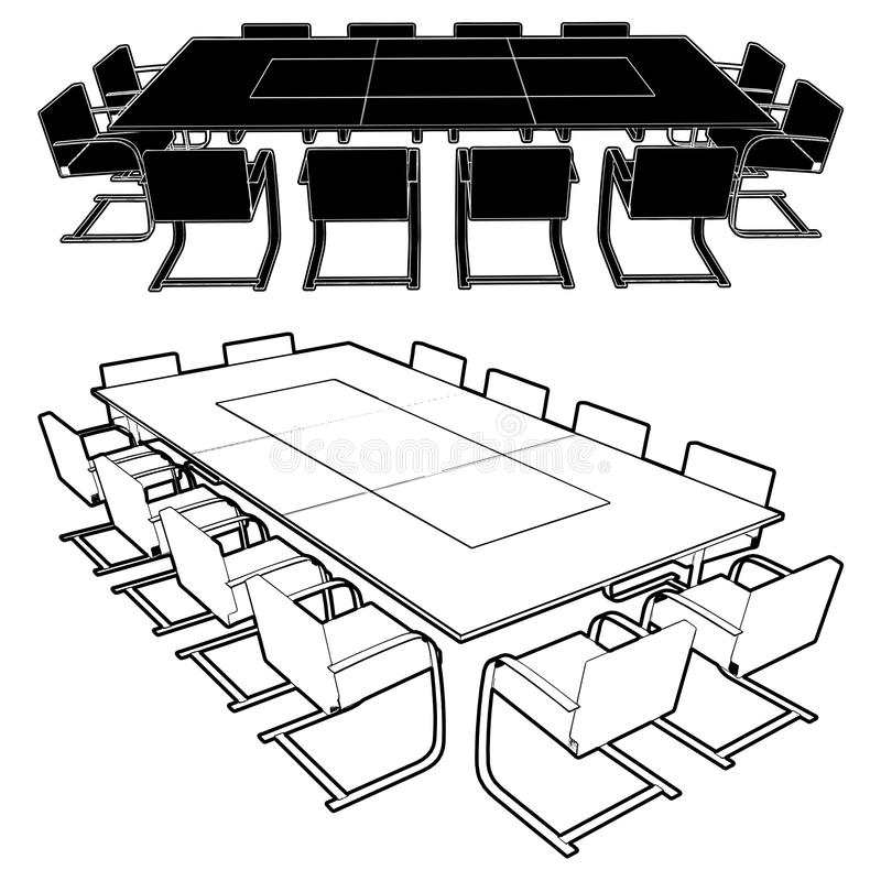 Meeting Conference Table Vector 01 Stock Images