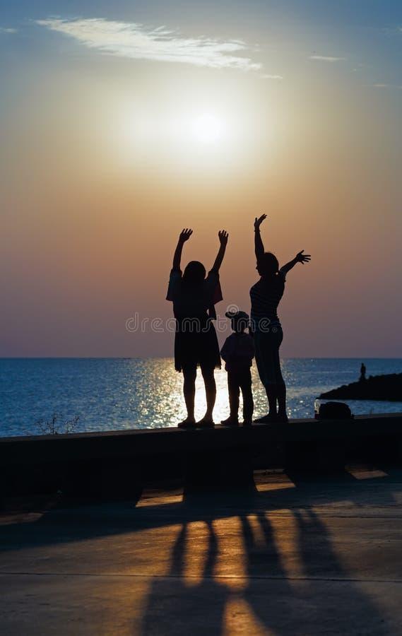 Meeting dawn stock photo