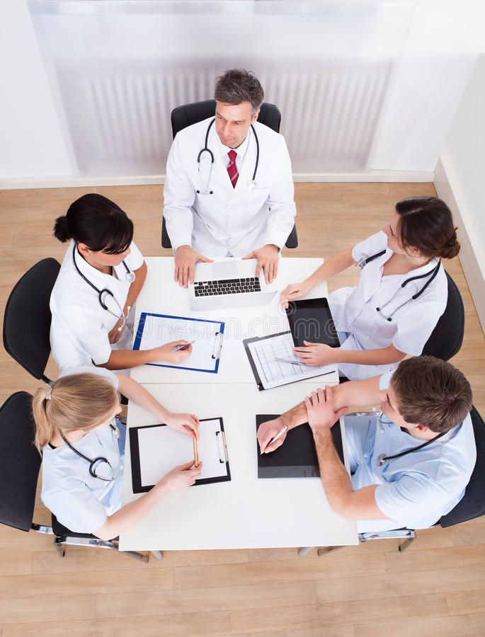 Meeting of doctors royalty free stock image