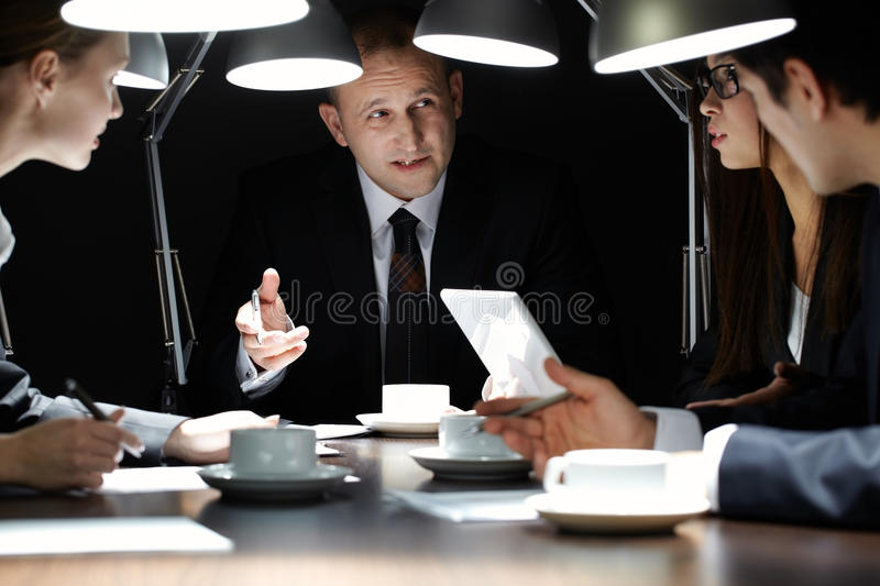 Meeting at the end of day royalty free stock photos