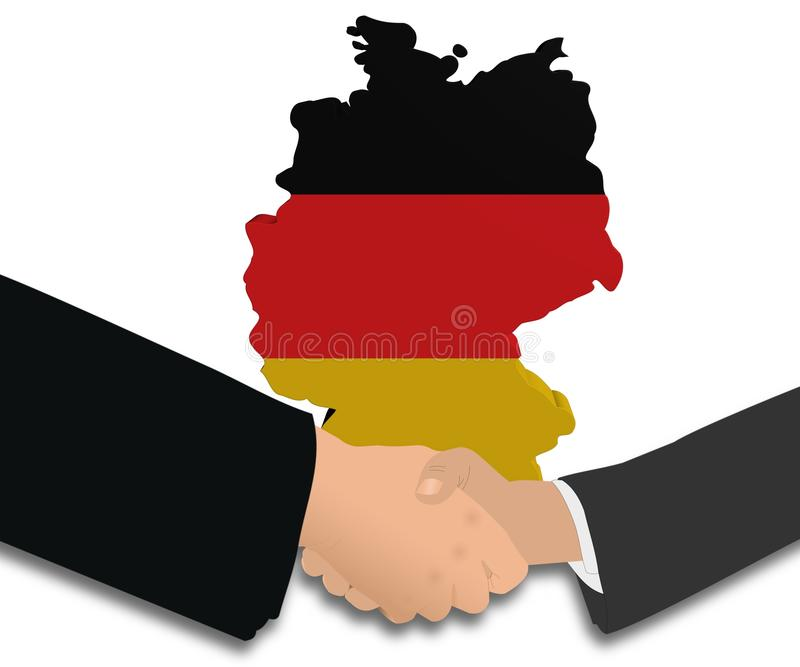 Download Meeting With German Map Flag Stock Illustration - Image: 19120244