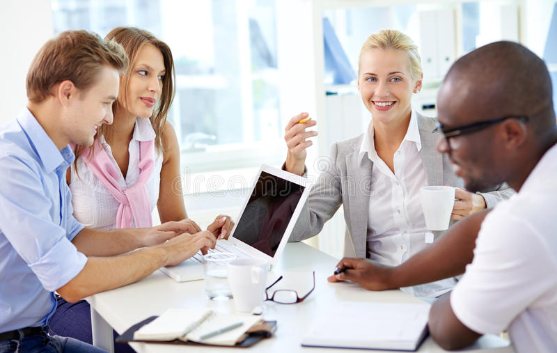 Download At meeting stock photo. Image of people, employment, employee - 33381050
