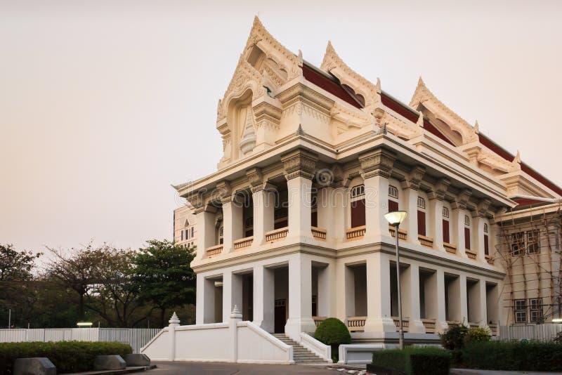 Meeting hall. Chula meeting hall building on sunset, Bangkok Thailand stock photos