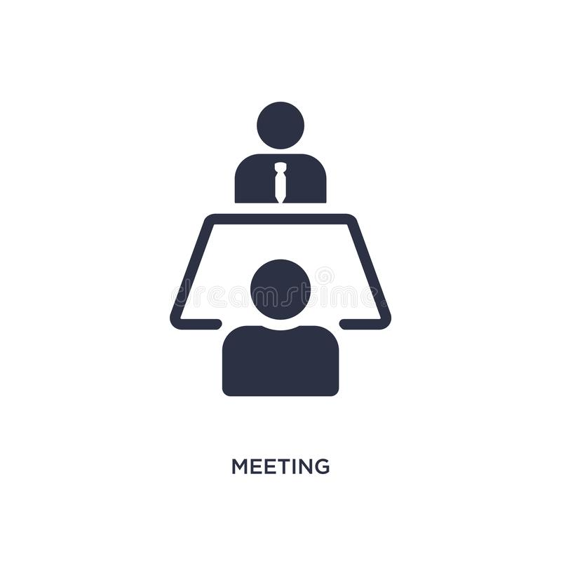 meeting icon on white background. Simple element illustration from strategy concept stock illustration