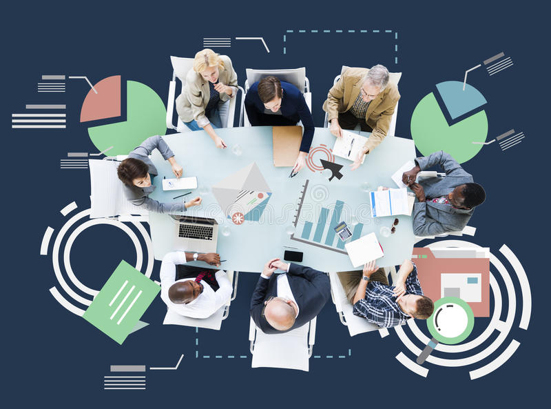 Meeting Information Statistics Analysis Report Concept royalty free stock photos