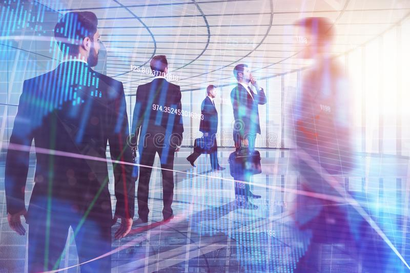Meeting, investment, teamwork and crowd concept stock image