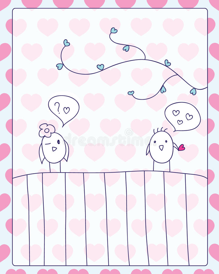 Meeting and love card