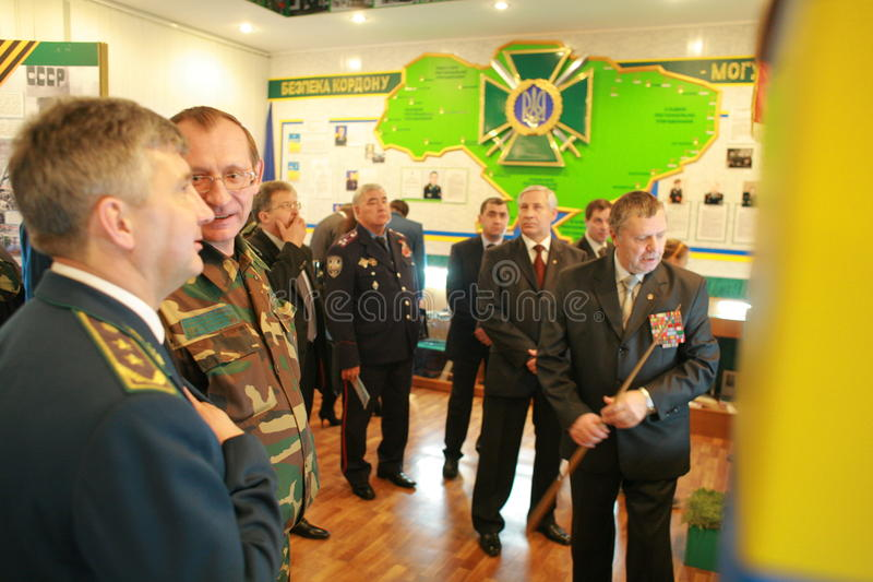 Meeting of the military leadership. Of Ukraine and Russia, in Kharkov, November 10, 2010, for negotiations on simplification of border crossings to Ukraine and royalty free stock photo
