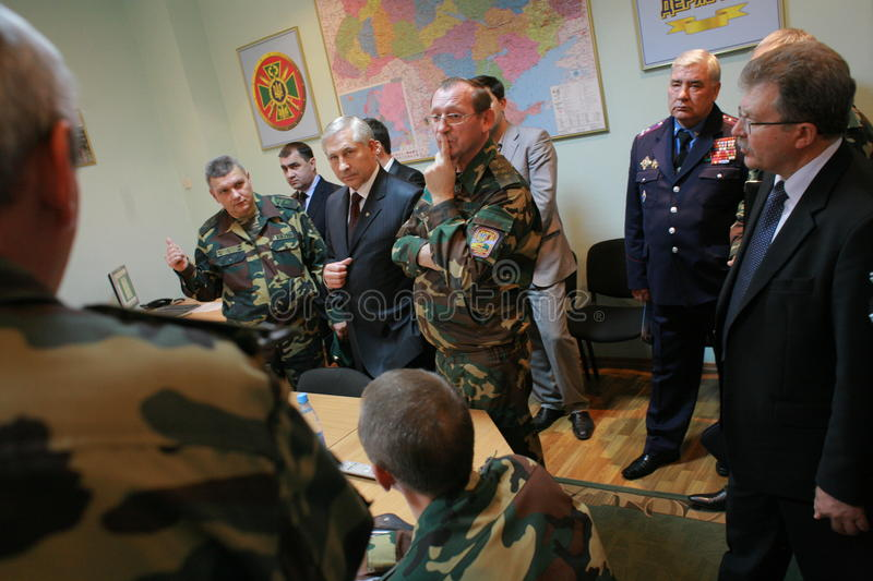 Download Meeting Of The Military Leadership Editorial Stock Image - Image: 17020199