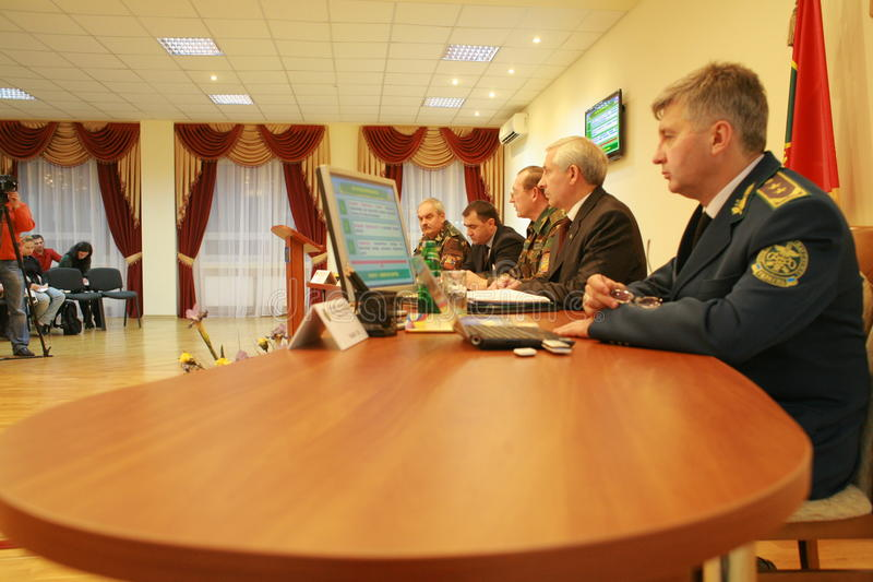 Meeting of the military leadership. Of Ukraine and Russia, in Kharkov, November 10, 2010, for negotiations on simplification of border crossings to Ukraine and royalty free stock image