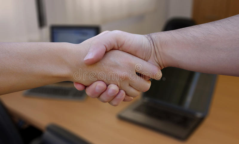 Meeting new People royalty free stock images