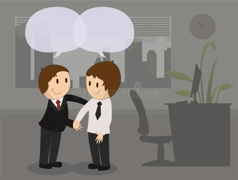 Meeting new People royalty free illustration