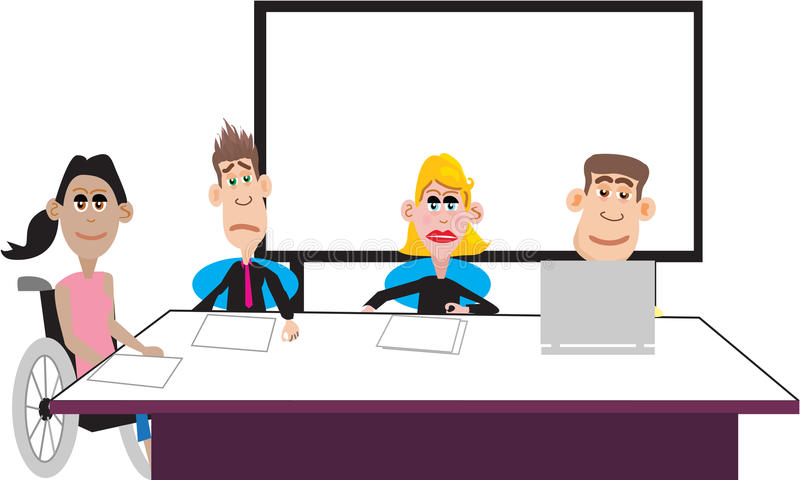 Meeting of Office Staff stock images