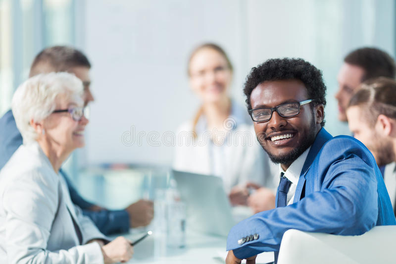 Meeting people stock photography