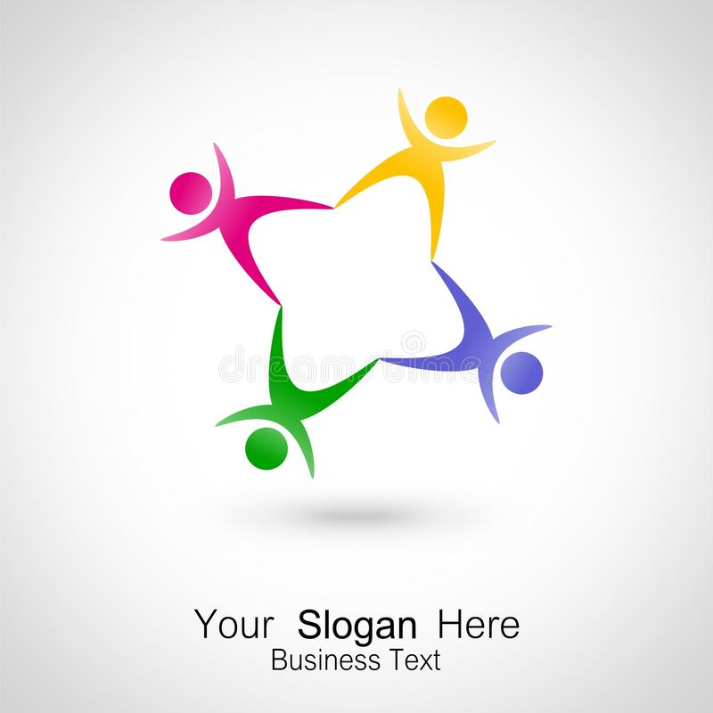 Meeting People. Icon Design Royalty Free Stock Image