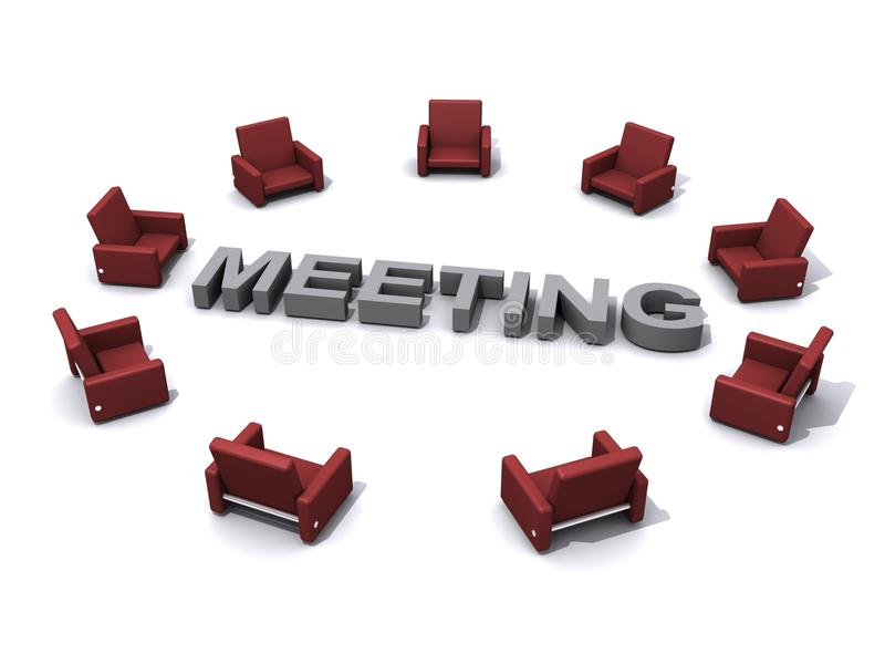 Download Meeting place stock illustration. Illustration of illustration - 17275710