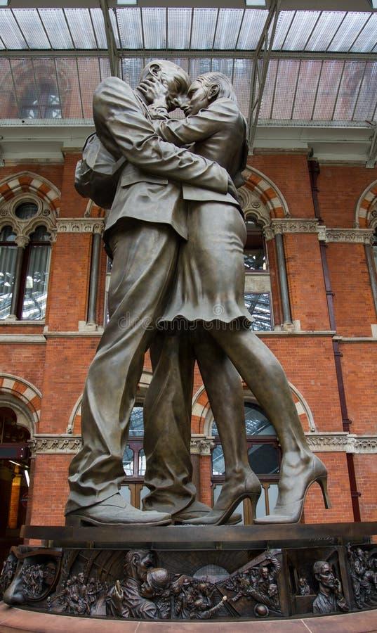 The Meeting Place St Pancras stock photo