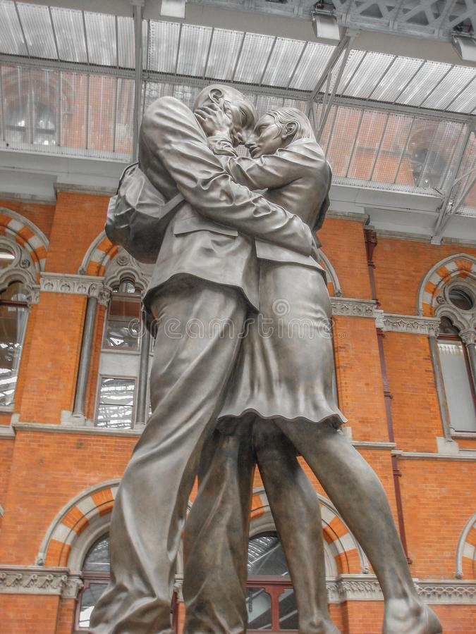 The Meeting Place on St Pancras Station, London stock photo