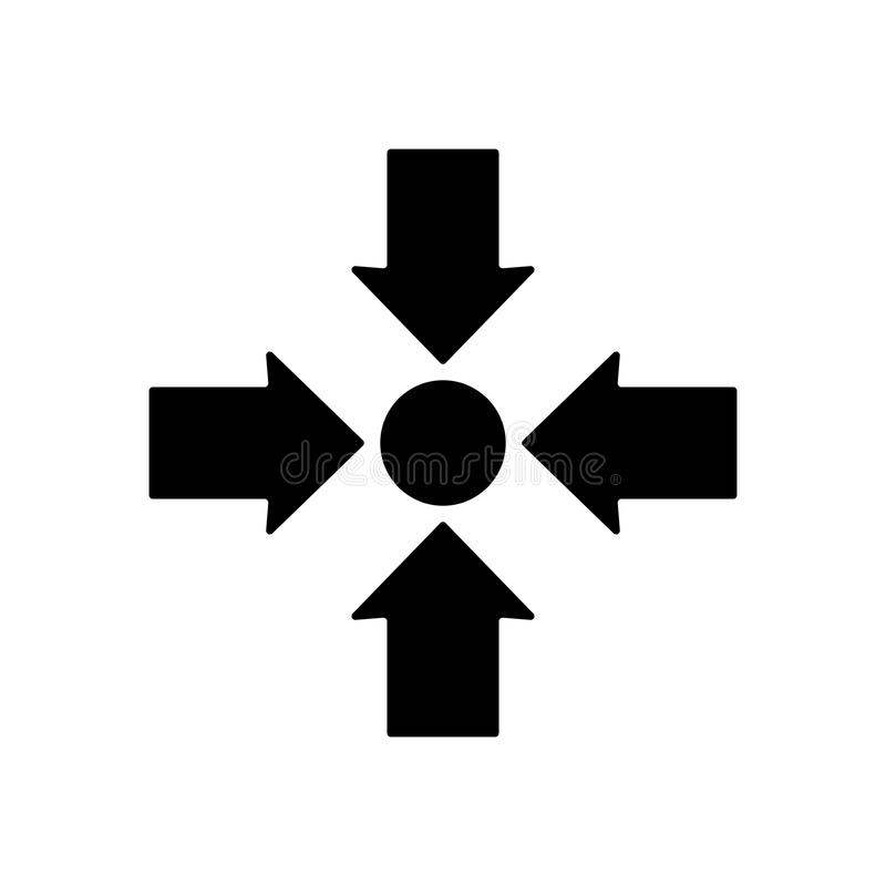 Meeting point icon design. Vector illustration royalty free illustration