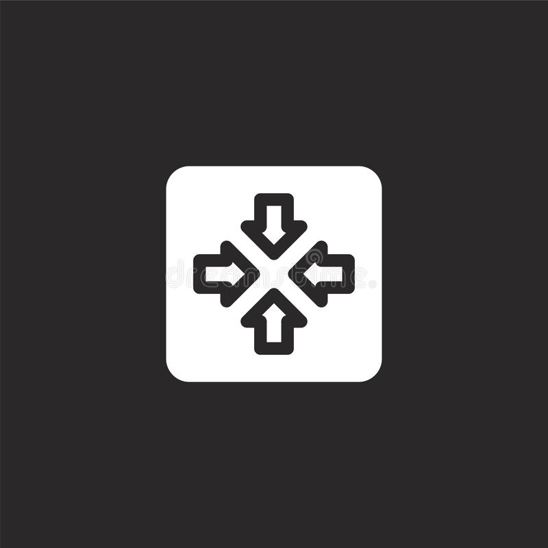 meeting point icon. Filled meeting point icon for website design and mobile, app development. meeting point icon from filled royalty free illustration