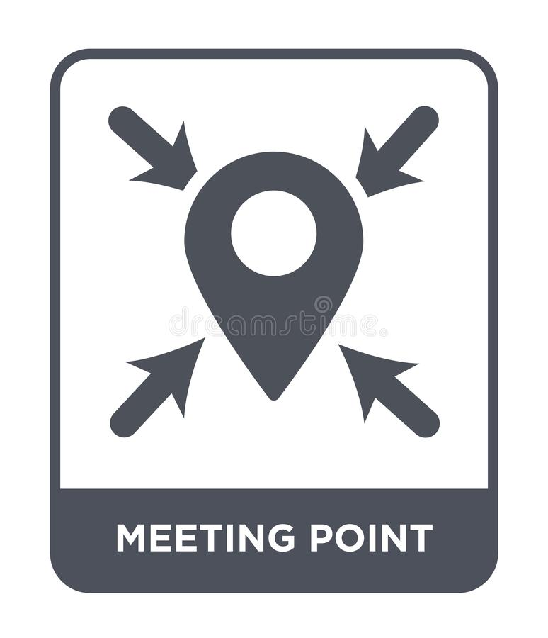 meeting point icon in trendy design style. meeting point icon isolated on white background. meeting point vector icon simple and vector illustration