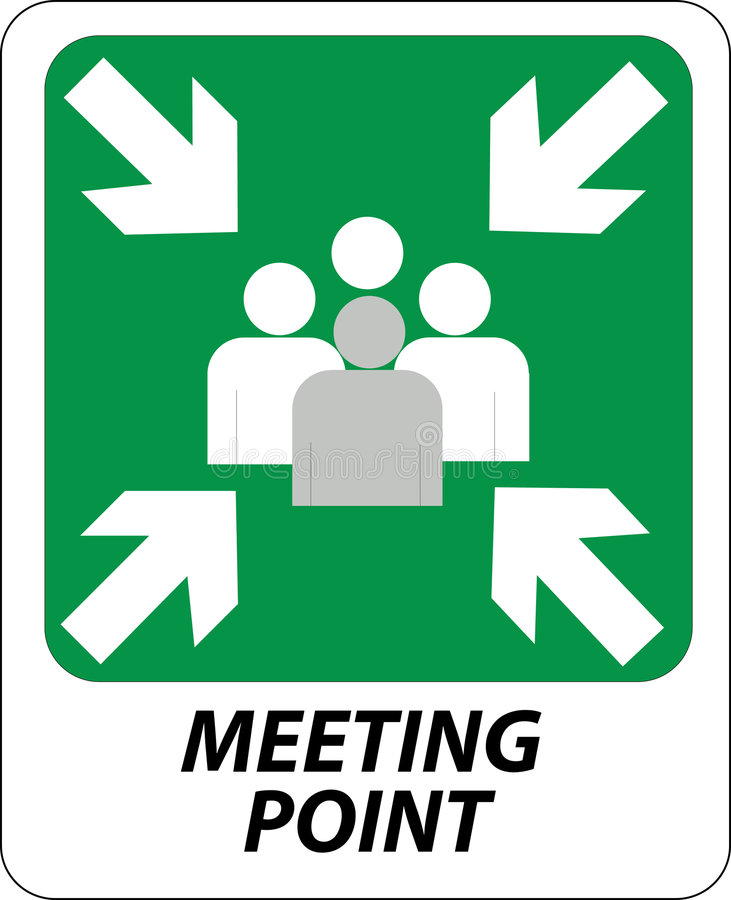 Meeting point sign royalty free illustration