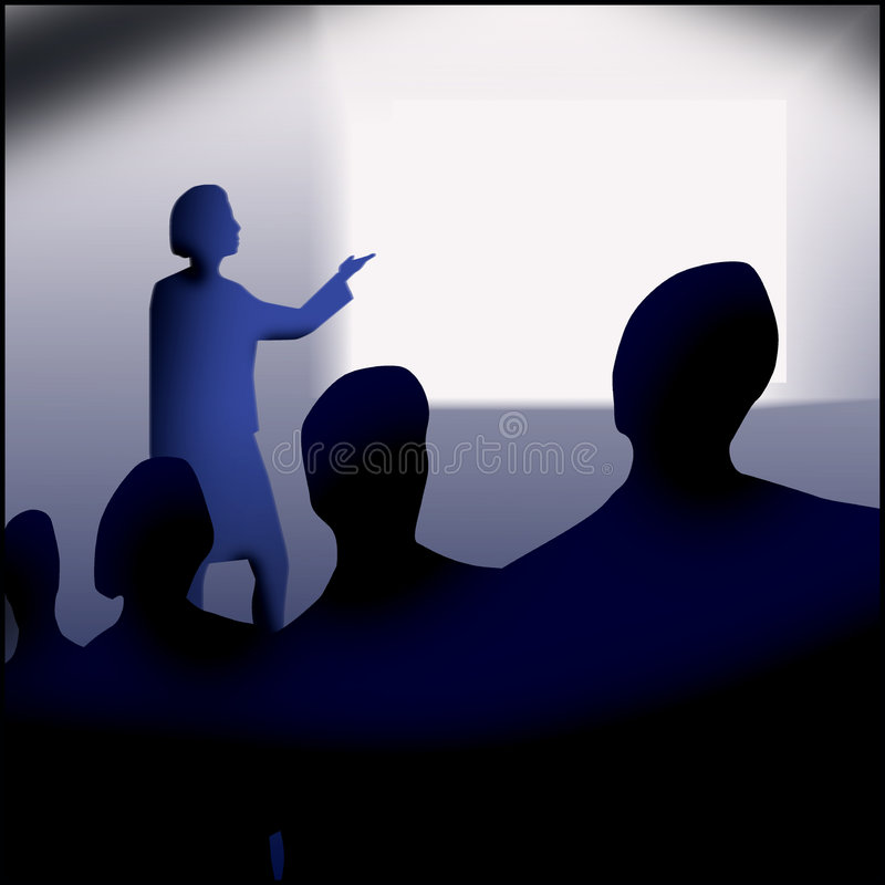 Meeting or presentation royalty free stock photo