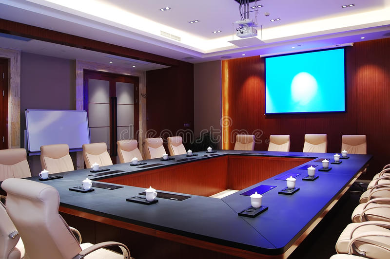 Download Meeting room stock photo. Image of cozy, business, blue - 20289650