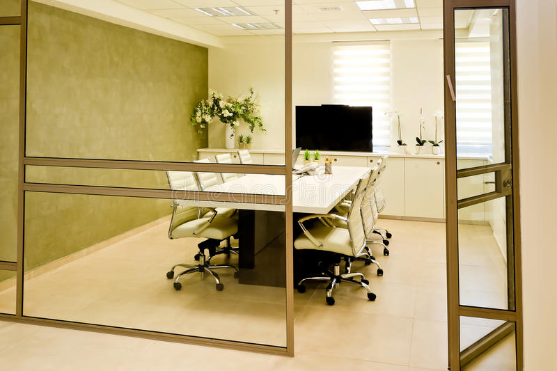 Meeting room. View in to the meeting room stock photography