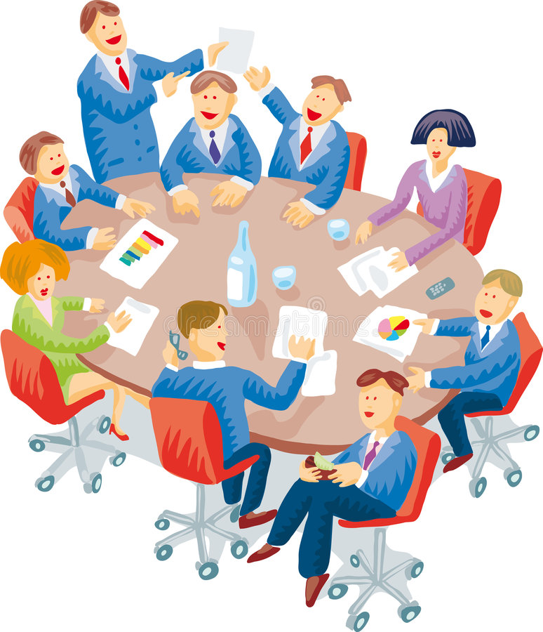 Download Meeting room stock vector. Image of vector, discussion - 5957109