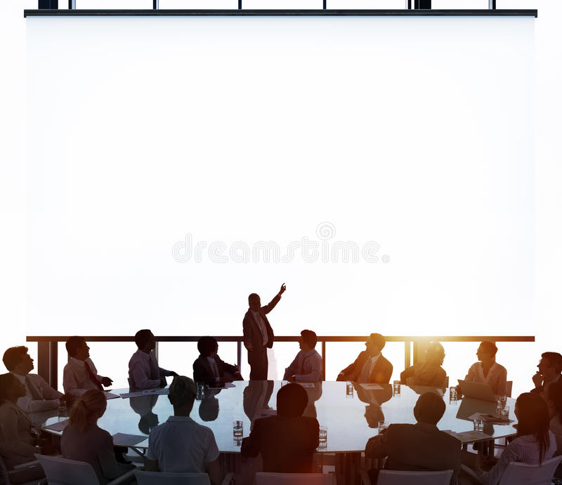 Meeting Room Business Meeting Leadership Concept stock image