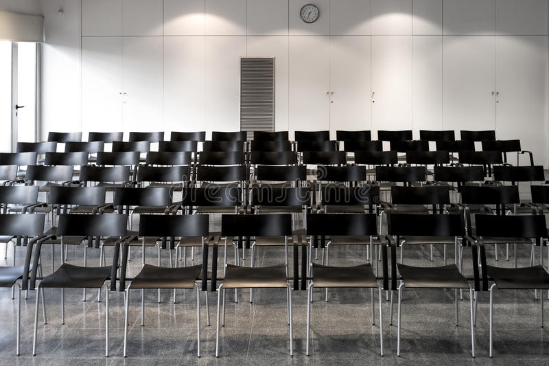 Meeting room. For conference, talk and speech stock photography