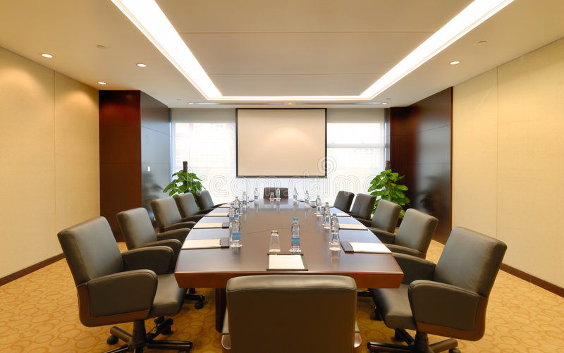 Meeting room interior. In the hotel stock photo