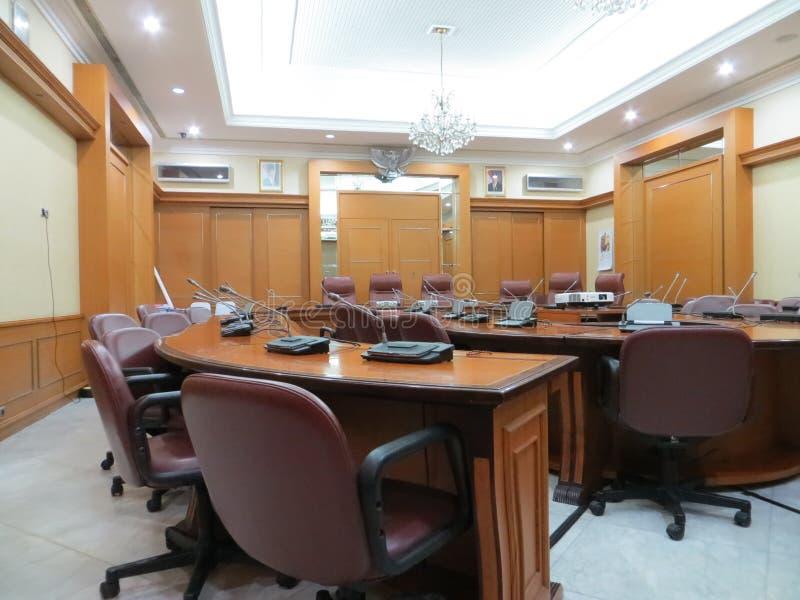 Meeting room at Jakarta City Hall. JAKARTA, INDONESIA - April 30, 2017: Meeting room at Jakarta City Hall royalty free stock image